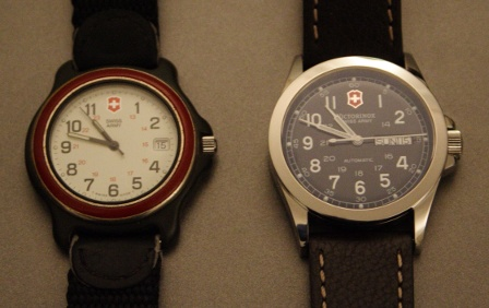 Swiss Army Active Original Red Bezel and Victorinox Swiss Army Classic Infantry Mechanical Self-winding